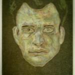 Gesicht - Farbradierung 2003